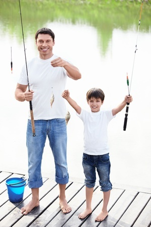 fishing with children